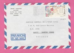 NOUVELLE CALEDONIE - TIMBRE POSTE P. A. N° 262  SUR LETTRE PAR AVION - Briefe U. Dokumente