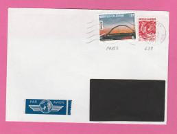 NOUVELLE CALEDONIE - TIMBRE POSTE P. A. N° 282 ET 639   SUR LETTRE PAR AVION - Luftpost