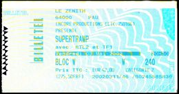 SUPERTRAMP Au Zénith De Pau - 3/05/2002 - Tickets De Concerts