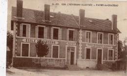 FAYET-LE-CHATEAU LA POSTE ECOLE DE GARCONS MAIRIE - France