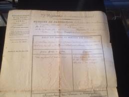 Militariat, Département De La Guerre , Mémoire De Proposition , 1811, 22 Eme Régiment Des Chasseurs A Cheval - Documents