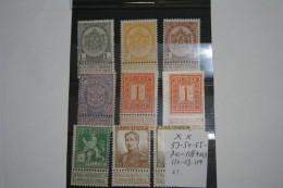 53/54/55/70/108+ND/110/113/119 Neufs Sans Charnières COB : 21,00€ - Belgium
