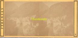 ANCIENNE PHOTO STEREOSCOPIQUE STEREO PHOTO FOTO STEREOVIEW SAINT ST SAUVEUR A L'ARRIVEE LES PYRENEES - Stereo-Photographie