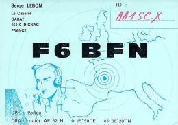 Amateur Radio QSL Card - F6BFN - Dignac, France - 1976  - 2 Scans - Radio Amateur