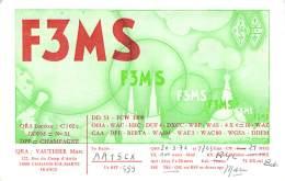 Amateur Radio QSL Card - F3MS - France - 1976 - Radio Amateur