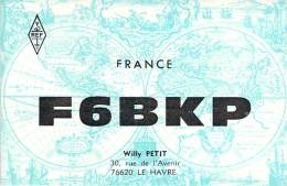 Amateur Radio QSL Card - F6BKP - Le Havre, France - 1974  - 2 Scans - Radio Amateur