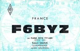 Amateur Radio QSL Card - F6BYZ - Gourdon, France - 1974 - 2 Scans - Radio Amateur