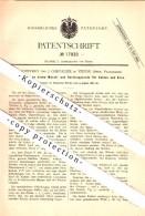 Original Patent - Cl. Jouffrey Und J. Chevalier In Vienne , Isere , 1881 , Waschapparat Für Erz , Bergbau !!! - Vienne