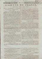 JOURNAL QUOTIDIEN N° 257 LA GAZETTE DE FRANCE Du Dimanche 13 Septembre 1807 - Giornali