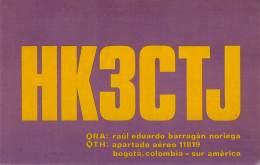 Amateur Radio QSL Card -  HK3CTJ - Bogota, Columbia - 1974 - 2 Scans - Radio Amateur