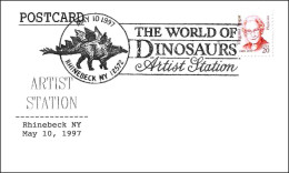 Dinosaurio STEGOSAURUS - The World Of Dinosaurs. Rhinebeck NY 1997 - Stamps