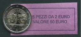 ITALIA 2016 - ROLL 2 EURO COMMEMORATIVO PLAUTO  ORIGINALE ZECCA - DATA VISIBILE - FDC - Rotolini