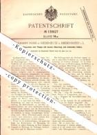 Original Patent - Johann Rossi à Niederjeutz / Yutz à Diedenhofen / Thionville , 1901 , Moteur à Pistons Rotatifs !!! - Thionville