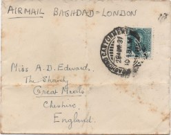 AIRMAIL COVER BAGHDAD TO LONDON - BAGHDAD CANTONMEN POSTMARK 1931 - Iraq