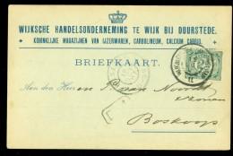 HANDGESCHREVEN BRIEFKAART Uit 1907 Van GROOTRONDSTEMPEL WIJKbijD:STEDE-SANDENB:LAAN Naar BOSKOOP  (10.472o) - Lettres & Documents