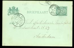 HANDGESCHREVEN BRIEFKAART Uit 1902 Van KLEINRONDSTEMPEL STOPPELDIJK Naar AMSTERDAM  (10.473) - Postwaardestukken