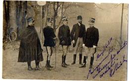 MONZA  - RARA FOTO CARTOLINA CAMPO MILITARE - UFFICIALI - UNIFORMI - ESERCITO - VG 1910 FP - C492 - Photographs