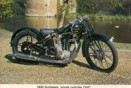 CAISTER CASTLE COLLECTION - BURDALL´S GRAVY SALT ADVERT - 1930 SUNBEAM No 4 - Motorbikes