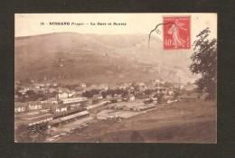 BUSSANG  - La Gare Et Sautey  N° 14  ( Vue Aérienne ) - Bussang
