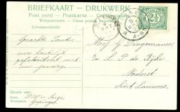 HANDGESCHREVEN BRIEFKAART Uit 1907 Van GAPINGE Via VEERE Naar KLEINRONDSTEMPEL St.LAURENS  (10.473a) - Periode 1891-1948 (Wilhelmina)