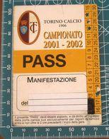 TORINO CALCIO PASS CAMPIONATO 2001-2002 - Biglietti D'ingresso
