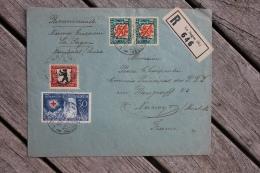 Enveloppe Recommandée Suisse Affranchie Série Pro Juventute Oblitération La Sagne Neuchatel 1928 - Pro Juventute