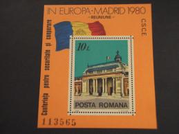 ROMANIA - BF 1980 SICUREZZA/ARCHITETTURA - NUOVO(++) - Blocs-feuillets
