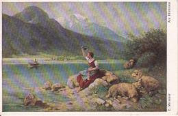 AK Am Hintersee - Künstlerkarte - E. Meissner - 1936  (23981) - Österreich
