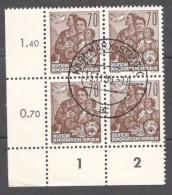 GermanDemocraticRepublic1956: Michel458  UsedBlock Of 4 - [6] République Démocratique