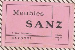 358  BUVARD  Meubles SANZ BAYONNE - Löschblätter, Heftumschläge