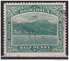 Dominica 1907, Roseau Capital, 1/2p, Used - Dominica (...-1978)