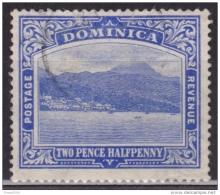 Dominica 1907, Roseau Capital, 2 1/2p, Wmk3, Used - Dominica (...-1978)