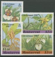 Montserrat 1987 Weihnachten Orchideen 687/90 Postfrisch - Montserrat