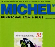 MICHEL Briefmarken Rundschau 7/2016-plus Neu 6€ New Stamps Of World Catalogue/magacine Of Germany ISBN 978-3-95402-600-5 - Badges
