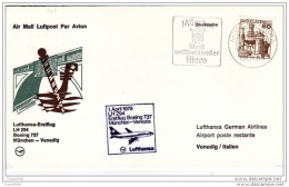 Italy 1979, Lufthansa First Flight, Munich To Venice With B737 - 6. 1946-.. Republic