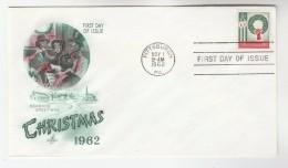 1962 Art Craft USA FDC  Stamps CHRISTMAS  Cover Pittsburgh - Christmas