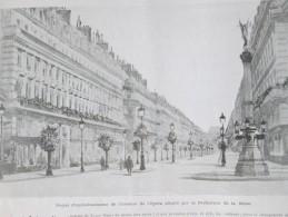 1905  PARIS    AVENUE DE L OPERA  TRAVAUX D EMBELLISSEMENT - Autres
