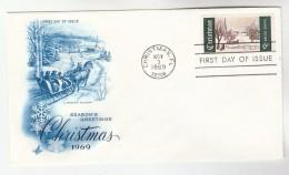 1969 Art Craft USA FDC Stamps CHRISTMAS Pmk CHRISTMAS FL Cover - Christmas