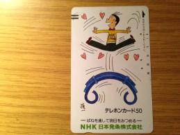 Ancienne Telecarte Japon  - Balkenkarte / Front Bar Card Japan / Japonese NHK   - Nr. 110-12479 - Japan