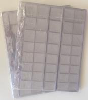 Coin Sheets / Pages For 40 Different Coins (cell - Diff.) 10 Pcs. (Optima Size) - Supplies And Equipment
