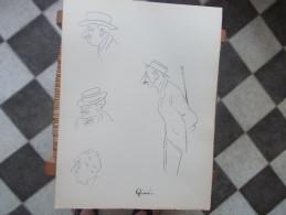 DESSIN CARICATURE François De Givré DINARD Année 1914 - Dessins
