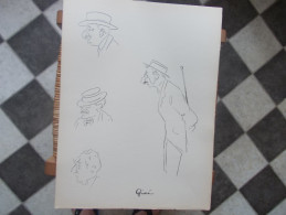 DESSIN CARICATURE François De Givré DINARD Année 1914 - Dibujos