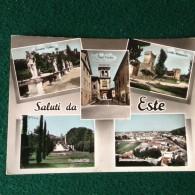 Cartolina Saluti Da Este,via Porta Vecchia,panorama E Campo Sportivo,castello Medioevale Viaggiata Padova - Padova (Padua)