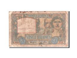 France, 20 Francs, Science Et Travail, 8.5.1941, KM:92b - 1871-1952 Anciens Francs Circulés Au XXème