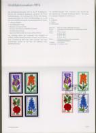 """Bund: Minister Card - Ministerkarte Typ IV, B. Mi-Nr. 524-27 ** + ESST, """" Wohlfahrtsmarken 1976: Gartenblumen"""" !   X - BRD"""