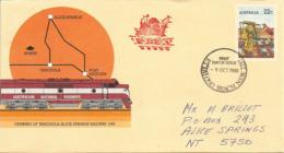 Australie. Ouverture Ligne Tarcoola_Alice Springs. Northern-Territory. L'alignement De La Voie Ferrée,Entier-postal - Ganzsachen