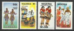 NIGERIA  1992  TRADITIONAL DANCE SET MNH - Nigeria (1961-...)
