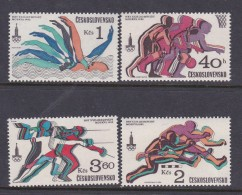 1980 Moscow Czechoslovakia Olympic Set MNH - Summer 1980: Moscow