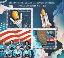 2011 Niger  Stamp  USA  Astronaut  Of Challenger Shuttle  MS Block - Africa
