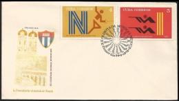 B)1972 CUBA-CARIBE, FENCING, RIFLE SHOOT-ING,  1972 SUMMER OLYMPICS, MUNICH, AUG 26-SEPT,  SC 1718-1719 A448, FDC - Cuba